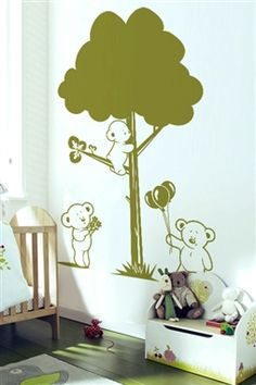 Baby Wall Decals -Bear Family