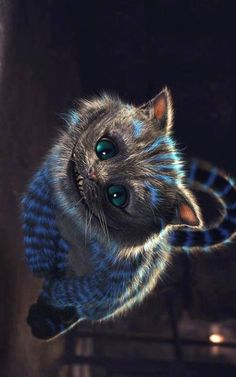 The talking Cheshire Cat is my favourite character from Alice in Wonderland. The whole concept of a talking, smiling cat is very surreal and funny.