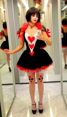 Halloween Costume Ideas That Are Guaranteed To Impress Scary Costumes, Sexy Halloween Costumes, Costumes For Women, Cosplay Costumes, Queen Of Hearts Costume, Queen Costume, Costume Dress, Fancy Dress, Dress Up