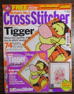 Britain's No.1 Cross Stitcher  issue 134 Stitch a Tigger May 2003 magazine  #BritainsNo1CrossStitcher