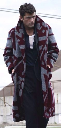 Wool and Vicuña 'Blanket' Coat, by Burberry Prorsum.  Mens Fall winter Fashion.