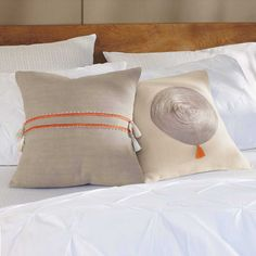 Embroidered Moroccan Linen Pillows from VivaTerra