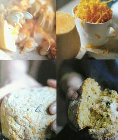 45-Minute Pumpkin and Parmesan Bread. Abel & Cole cookbook. p121