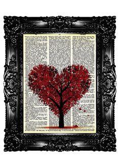 Dictionary Art - Tree