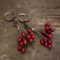 Cherry Red and silver
