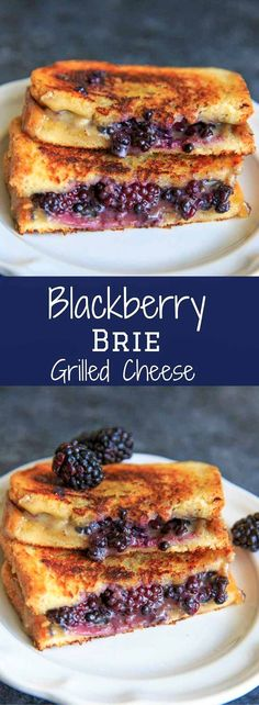 Blackberry Brie Grilled Cheese Sandwich - perfect end of summer / early Fall snack or meal! Sweet and savory combo gives a fun twist on the classic.