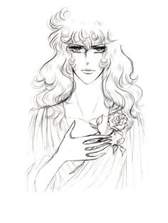 White Rose of Versailles Lady Oscar, Cersei, White Roses, Female Characters, Manga Anime, Illustration, Sketches, Fan Art, Animation