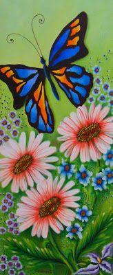 Pinturas Cuadros: Pintura: Cuadros modernos con mariposas
