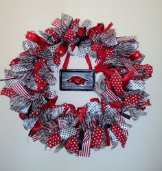 Razorback wreath. This will be done in the near future and will stay displayed pretty much year around!!