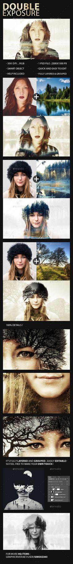 Double Exposure Maker #design Download: http://graphicriver.net/item/double-exposure-maker/11097407?ref=ksioks