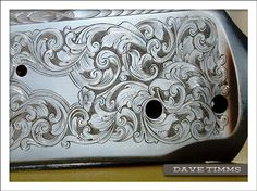 Dave Timms of Alberta, Canada, hand engraved this firearm. He has trained with GRS in Emporia, Kansas.
