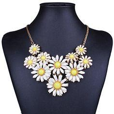White Daisy Flower Cluster Bib Pendant Golden Chain Choker V Collar Necklace Qiyun http://www.amazon.com/dp/B00PJIO5PO/ref=cm_sw_r_pi_dp_um4cvb1WXZVPE