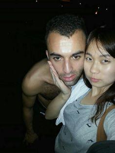 Hana Kim and Mathieu