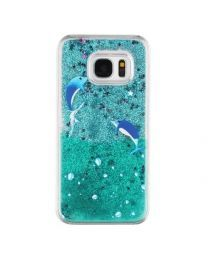 New Liquid Galaxy 7 Phone Case ~ Improve sound quality Galaxy S7, Samsung Galaxy, S7 Edge, Phone Cover, Hand Painted, Green Glitter, Crystals, Products, Madness