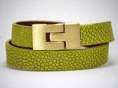 Stingray wrap leather bracelet
