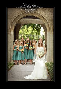 Love this and the color of the bridesmaid dresses!