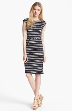 Tory Burch 'Kalvin' Belted Silk Shift Dress available at #Nordstrom
