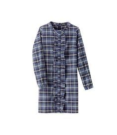 APC Plaid ruffle dress