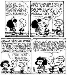 Susanita Mafalda Comic, Mafalda Quotes, H Comic, Sarah Andersen, Jim Davis, Lucky Luke, Humor Grafico, Amazing Adventures, Funny Comics