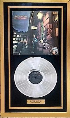 Antiquities LV - David Bowie Signed Album And Platinum Record, $1,995.00…