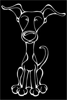 Italian Greyhound Decal Dog