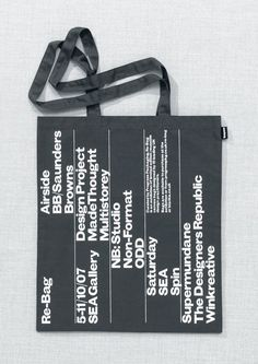 Design Project / SEA Gallery / Re-Bag / Tote Bag / 2007
