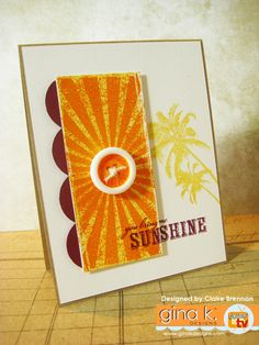 Claire Brennan/Waltzingmouse Makes. Stamp Tv, Box Of Sunshine, Paper Pumpkin, Cool Cards, Clear Stamps, Summer Fun, Cardmaking, Greeting Cards, Paper Crafts