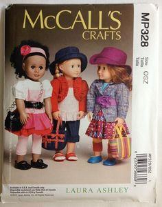 "McCall MP328 Laura Ashley 18"" Doll Dress Bolero Jacket Leggings Shoes Bag Hat #McCalls"