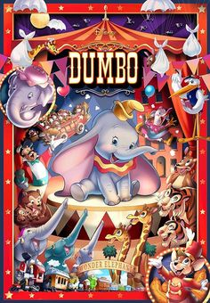 A Tenyo jigsaw puzzle is like no other puzzle you've ever put together. Discover the challenge of Japanese jigsaw puzzles when you shop today at Plaza Japan. Pixar Movies, Disney Films, Disney Pixar, Walt Disney, Baby Elephant Nursery, Elephant Canvas, Cute Disney, Disney Art, Dumbo's Circus