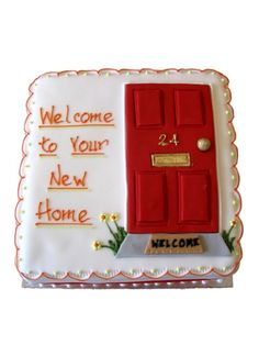 A Fun housewarming cake for the part Welcome Home Cakes, Welcome Gifts, Housewarming Cake, House Cake, Best Cake Recipes, Specialty Cakes, Novelty Cakes, Occasion Cakes, Cute Cakes