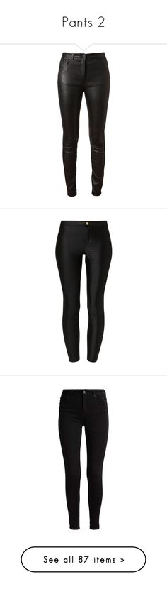 """Pants 2"" by itsrudytoo ❤ liked on Polyvore featuring pants, bottoms, jeans, calças, trousers, black, side pocket pants, leather pants, super skinny pants and skinny leather pants"