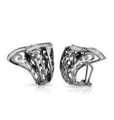 Antoinette Black Earrings by Belle Étoile.  Model Shot.  Fashion Jewelry