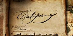 Californya (by Typo5) - Californya is based on several manuscripts from 16th century, and completely reinterpreted with a vast series of characters drawn by hand.