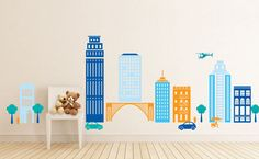 Hey, I found this really awesome Etsy listing at https://www.etsy.com/listing/176366805/cityscape-city-vinyl-decal