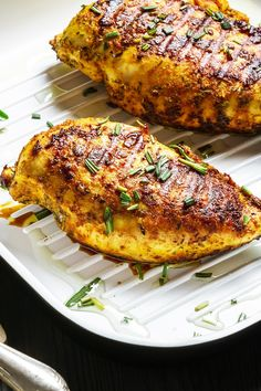 Skinny Balsamic Chicken with Herbs Recipe - Low Calorie, Paleo and Gluten Free Herb Chicken Recipes, Herb Recipes, Grilling Recipes, Cooking Recipes, Soup Recipes, Poulet Weight Watchers, Plats Weight Watchers, Weight Watchers Chicken, No Calorie Foods