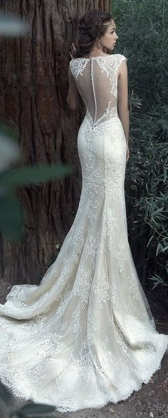 Featured Dress: Milva; Wedding dress idea.