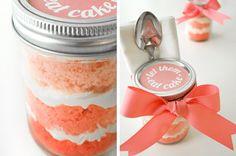 Ombré mason jar deconstructed cupcake