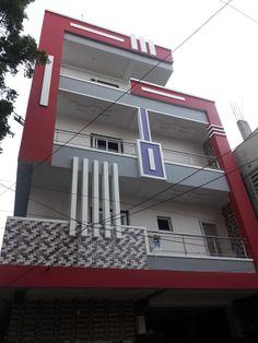 Home color exterior indian 37 ideas Duplex House Design, House Front Design, Modern House Design, Home Styles Exterior, Exterior House Colors, Exterior Design, Indian House Plans, European House Plans, Front Elevation Designs