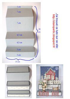 Carte acordéon avec tuto en images aux dimensions en cm