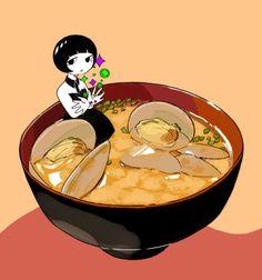 zuppa di miso di vongole