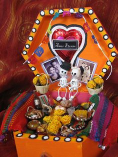 Dia de los Muertos altar to my grandparents by amyflo, via Flickr