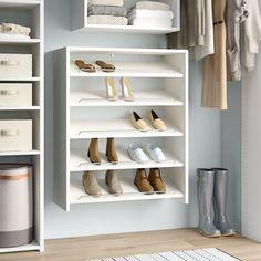 Rebrilliant Belle W Closet System Shoe Shelves, Shoe Storage Cabinet, Closet Storage, Shoe Closet Organization, Modular Storage, Storage Spaces, Stackable Shoe Rack, Shoe Storage Solutions, Closet Rod