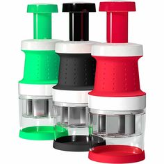 Vremi Food Chopper One Piece Salad Vegetable Chopper and Slicer Dicer Manual Mini Hand Chopper Onion Garlic Mincer with Cover for Vegetables Stainless Steel Cutter Blade Black Mini Chopper, Food Chopper, Slicer Dicer, Vegetable Chopper, Steel Cutter, Cooking Supplies, Types Of Vegetables, Look Good Feel Good