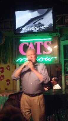 "Performing at ""Cat's Meow"" in New Orleans - in front of a packed house!"