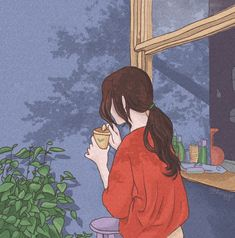 Lofi on Behance Art Anime, Anime Art Girl, Cute Cartoon Wallpapers, Animes Wallpapers, Aesthetic Art, Aesthetic Anime, Korean Aesthetic, Arte Indie, Arte Do Kawaii