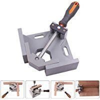 GORCHEN Right Angle Clamp 90 Degree Corner Clamp Adjustable Bench Vise Tool for Woodworking Welding Doweling Aquarium Cabinet Frame Water Tank