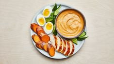 This addictively creamy, spicy-sweet dip paired with leftover rotisserie chicken, jammy eggs, cucumber spears, and roasted sweet potatoes makes the perfect desk-friendly lunch. Coconut Sauce, Coconut Milk Curry, Canned Coconut Milk, Coconut Oil, No Salt Recipes, Dip Recipes, Great Recipes, Game Recipes, Chicken Recipes