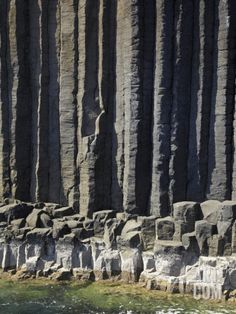 Basalt Columns by Fingal's Cave, Staffa, Off Isle of Mull, Scotland Photographic Print by David Wall at Art.com