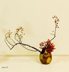 Sogetsu Curriculum 4-4: Only One Kind of Material #rose #ikebana #sogetsu #sogetsuikebana