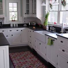 Kitchen White Cabinets Black Hardware Design, Pictures, Remodel, Decor and Ideas